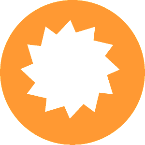 RADIAL ORANGE LOGO UNCUT_White